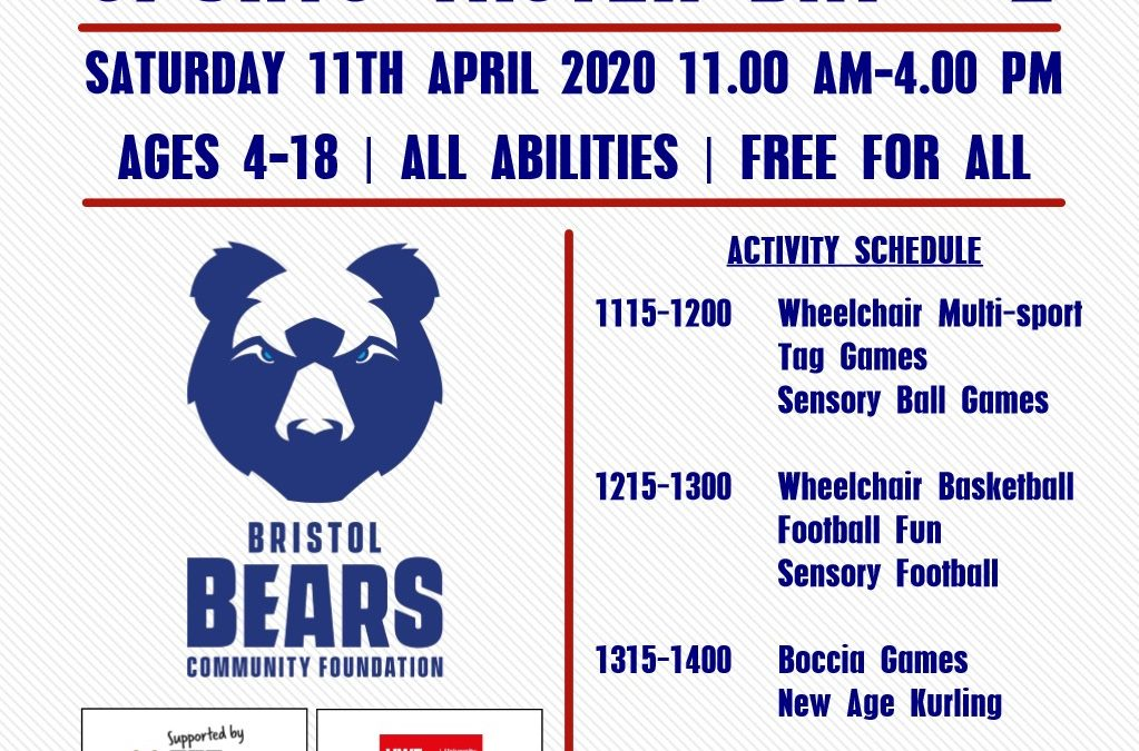 Bristol Bears Community Foundation Inclusive Sports Taster #2