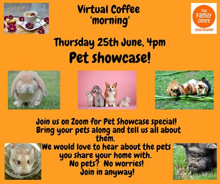Virtual Coffee 'Morning' Pet Showcase